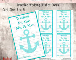 wedding wishes nautical nautical advice card etsy