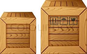 wooden box icon stock vector colourbox