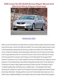 2000 lexus lx470 vsc trac light 2006 lexus gs 430 gs430 serivce repair manual by trinh bohmer issuu