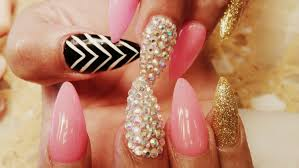 elegant acrylic nail designs stiletto tips for wearing acrylic