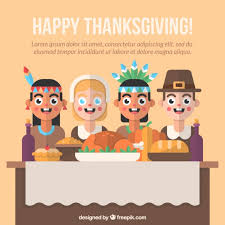 background of thanksgiving dinner in flat design vector free