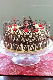 chocolate cake with chocolate fudge filling fudge topping