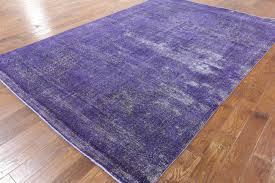 Area Rugs With Purple Vintage Oriental Overdyed 8 U0027x12 U0027 Purple Hand Knotted Wool Area Rug