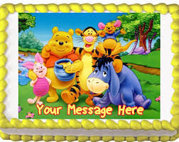 winnie the pooh cake topper pooh cake topper etsy