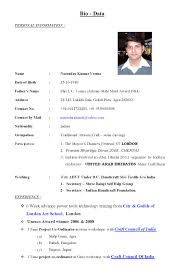 Resume Bio Example Bio Data Resume Sle 28 Images Difference Between Cv Resume And