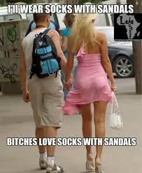 Bitches Love Meme - bitches love socks with sandals meme lekememes