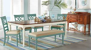 cindy crawford home ocean grove white 5 pc rectangle dining room