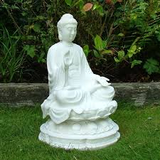 garden ornaments sculpture white thai buddha statue s s shop