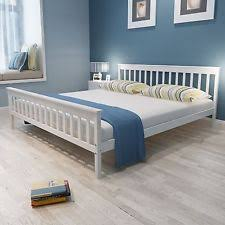 black super king size metal bed frame double wood slats sturdy