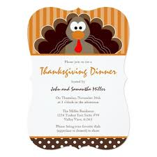 thanksgiving feast invitations announcements zazzle