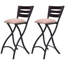amazon com costway set of 2 folding bar stools counter height