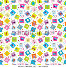 kids wrapping paper wrapping paper toys kids stock vector 360383873
