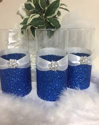 Wedding Candle Holders Centerpieces by Wedding Centerpiece Glitter Vase Bridal Bouquet Holder