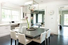 white dining room table seats 8 gray square dining table with white chairs transitional new room