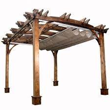 outdoor living today 10 ft x 12 ft arched breeze cedar pergola
