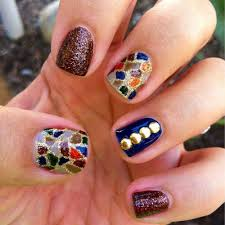 interesting stained glass nail designs