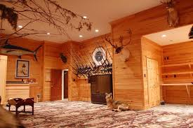 Hunting And Fishing Home Decor 70 Awesome Man Caves In Finished Basements And Elsewhere Page 11