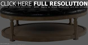 Large Round Coffee Table by Coffee Table Round Leather Upholstered Ottoman Large Ottomans And