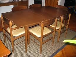 mid century modern dining room tables mid century modern round