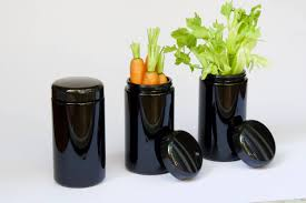 black canisters for kitchen miron violet glass 500 ml jar