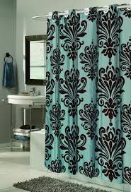 Teal Colored Shower Curtains Shower Better Homes And Gardens Yellow Paisley Fabric Shower