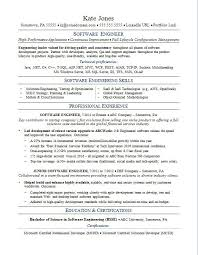 software engineer resume sle resume for a software engineer