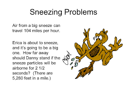 how far does a sneeze travel images Practice with word problems ppt download jpg