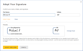 how do i sign a docusign document docusign support center