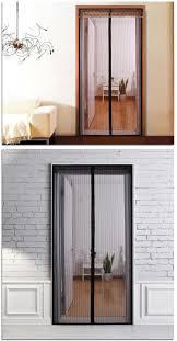 Sheer Door Curtains Noiseless Automatic Closing Magnetic Stripe Sheer Door Curtain