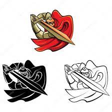 coloring book knight warrior cartoon character u2014 stock vector