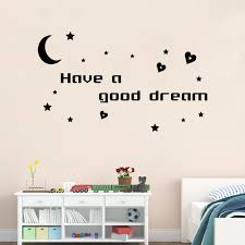 aliexpress com buy moon and stars vinyl wall stickers home decor aliexpress com buy moon and stars vinyl wall stickers home decor have a good dream quote wall art decals for kids room decor from reliable decorative
