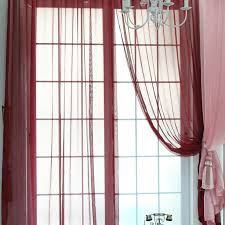 burgundy color contemporary sheer curtains and drapes