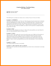 cover letter short story sample query letter the best