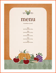 12 free menu templates for word survey template words