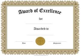 certificate of excellence template other size s best classy