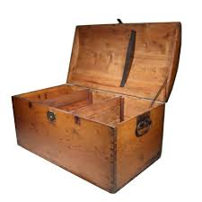 19th century wooden trunk with dovetail joints for sale at 1stdibs