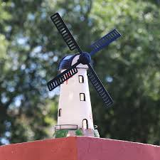 1 pc home garden ornament decor 37 5cm resin windmill solar