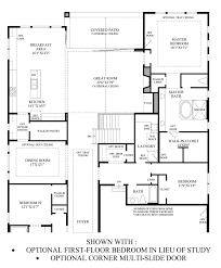 Sliding Door Floor Plan The Highlands At Parker Quick Delivery Home Chatfield Classic