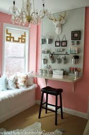 Pink Craft Room - sherwin williams hopeful craft room home stories a to z