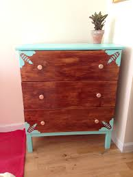 Furniture Hacks Diy Ikea Tarva Dresser Ikea Hack Stained Walnut Color With Aqua