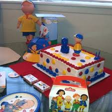 caillou birthday cake caillou birthday party food ideas sellit