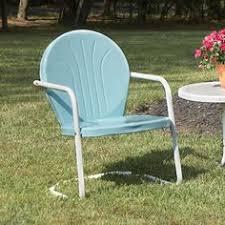 buy retro metal lawn furniture here thunderbird metal lawn chair