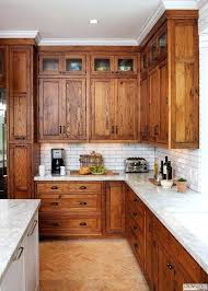 honey oak kitchen cabinets with granite countertops makeover wall