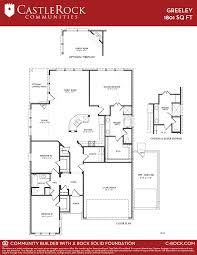 castle home floor plans greeley silver home plan by castlerock communities in newport