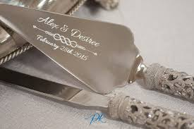 wedding cake knife set engraved wedding cake knife and server wedding corners