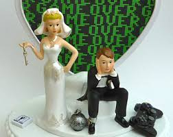 and chain cake topper wedding cake topper bowling bowler pins towel groom