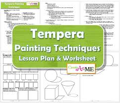 tempera painting techniques lesson plan u0026 worksheet painting