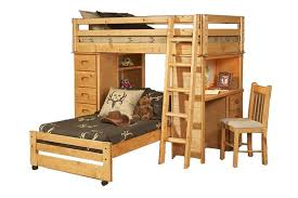 Youth Bunk Beds Traditional Youth Loft Bed With Castors In Cinnamon Mathis