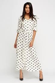 polka dot maxi shirt dress just 5