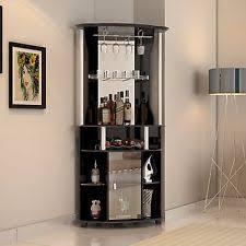 bar cabinet furniture corner home pub bar cabinet wine bottle storage stemware rack liquor